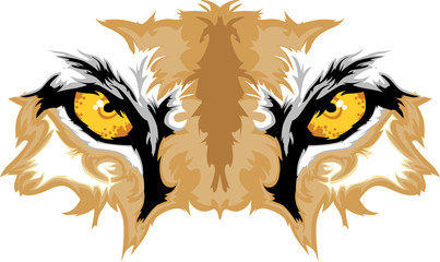 Cougar Eyes Mascot Graphic
