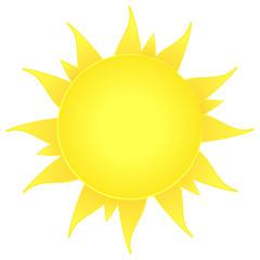 sun icon. nature symbol. summer beach