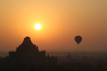 Sunset with Balloon