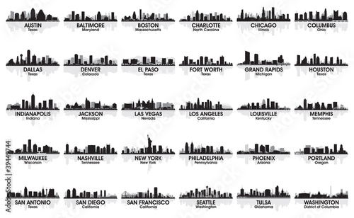 u0026quot incredible set of usa city skyline  30 cities  u0026quot  stock image and royalty