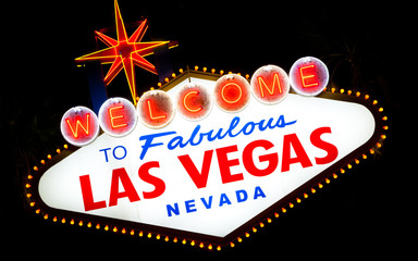 Las Vegas Sign a night