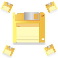Gold floppy