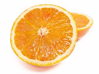 Ageschnittene Apfelsine
