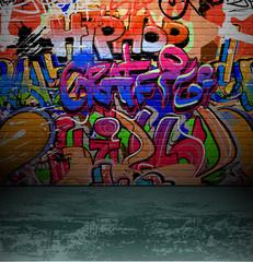 Photo sur Plexiglas Graffiti Graffiti wall urban street art painting