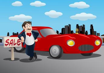 Recess Fitting Cars Sales man