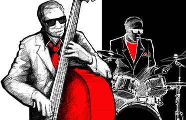 Wall Mural - jazz band