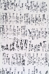 Japanese hieroglyphs.