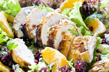 Chicken and Orange Salad Close Up