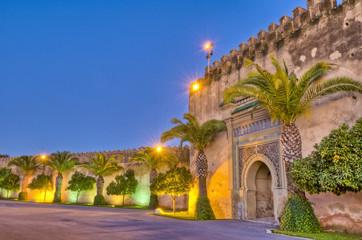 Foto op Aluminium Marokko Imperial City door at Meknes, Morocco