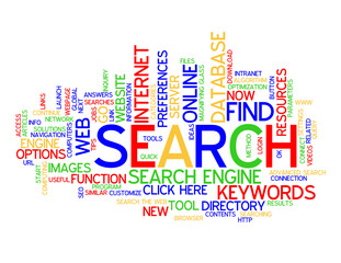 """SEARCH"" Tag Cloud (find button web internet online keywords)"