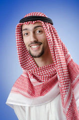 Arab businessman in studio shooting
