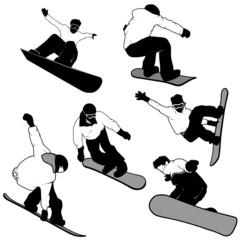 snowboard riders