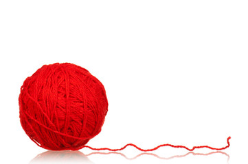 Red ball of yarn