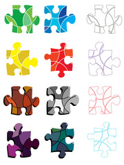 Abstract puzzle pieces