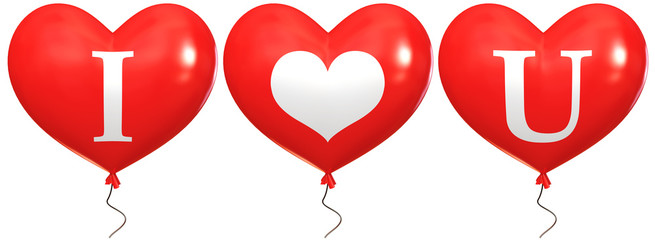 """Balloons with the words """"I love you"""""""