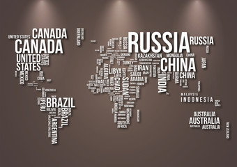 Obraz Mapa świata do salonu - fototapety do salonu