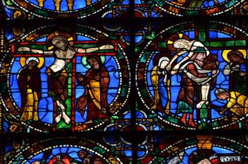 Foto op Plexiglas Stained vitrail