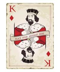 Vintage king of diamonds, playing card