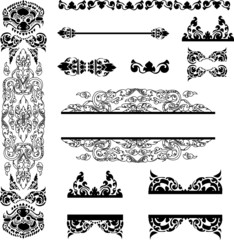 Vector set of Cambodian floral pattern