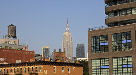 View from High Line Park, Manhattan, New York, USA
