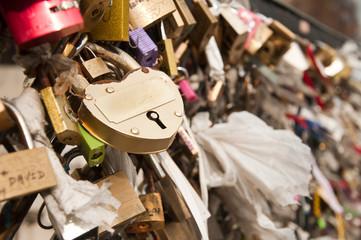 cadenas sur le pont au double notre dame de Paris