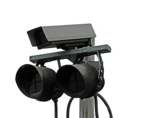 surveillance cameras and lights anti thief
