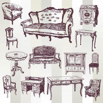 Antique Furniture Doodled