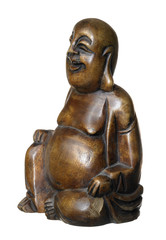 Buddha made of dark wood