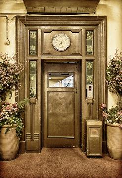 old elevator door