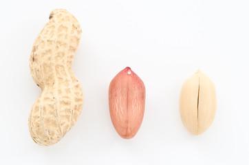ピーナッツの殻と中身