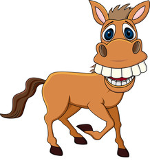 Smiling horse cartoon