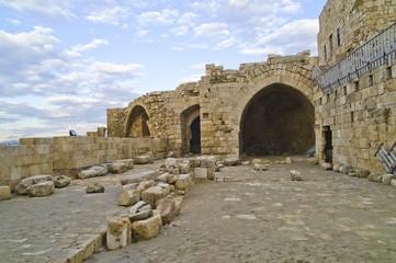 Fototapete - Crusader Sea Castle at Sidon, Lebanon