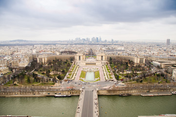 View of Paris from the Eiffel Tower