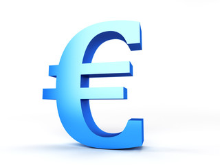 3d rendered abstract illustration of an euro sign