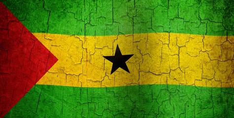 Grunge Sao Tome and Principe flag