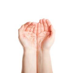 Woman palms