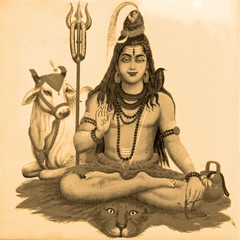 ancient image of Shiva