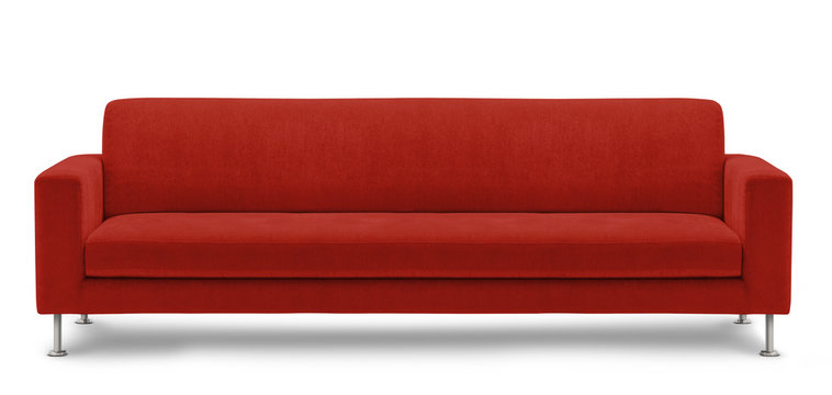 long sofa, bench on white background