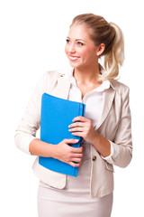 akktraktive junge Geschäftsfrau