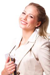 junge moderne Geschäftsfrau
