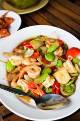fried shrimp with stinky beans