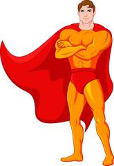 Aluminium Prints Superheroes Supern cartoon character