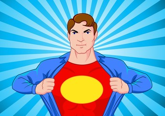 Poster Superheroes Superhero undercover