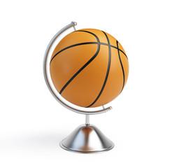 basketball ball globe