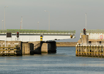 A bridge in the afsluitdijk