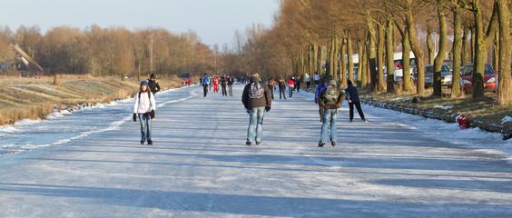 Iceskating the Elfstedentocht
