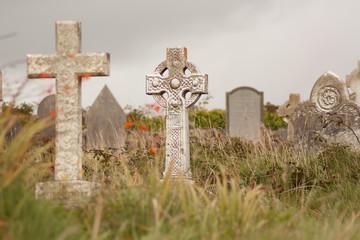 A gravestone on a Irish graveyard