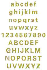 alphabet gribouillé en couleur