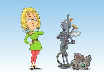 Spoed Foto op Canvas Robots Housewife