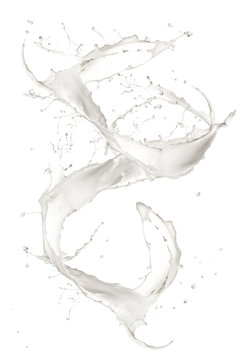 Milk splash isolated on white background